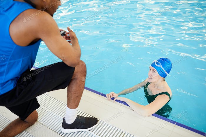 Mature Woman in Aqua Fitness Class