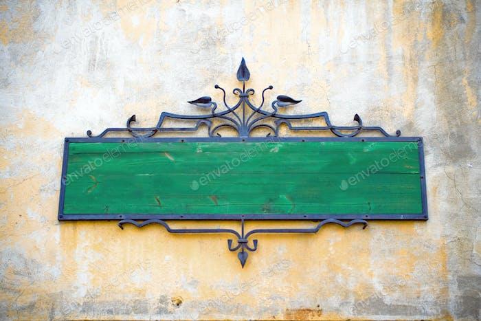 Blank retro sign