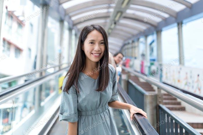 Asian Woman travel in Hong Kong