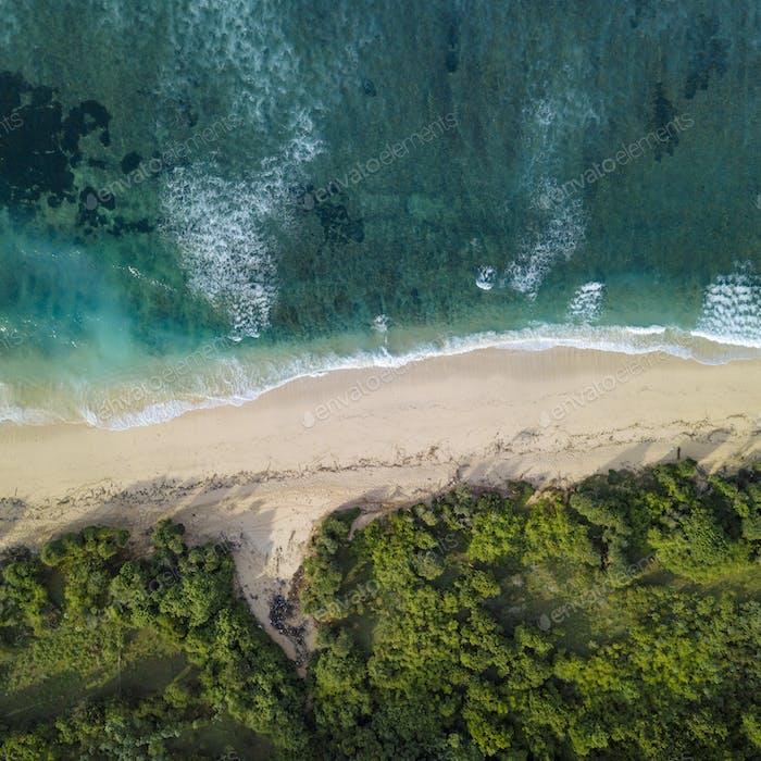 Aerial view of tropical beach, Bali, Indonesia