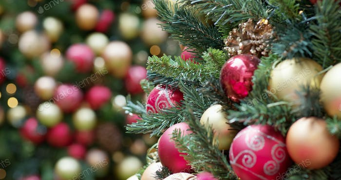Beautiful Christmas tree decoration