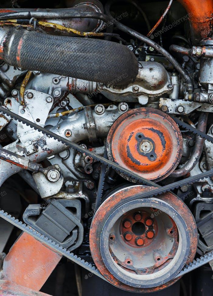 Fahrzeugmotor Nahaufnahme