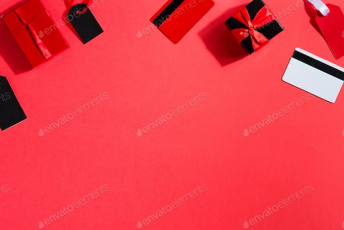 Blackfriday decorative border from different accessories