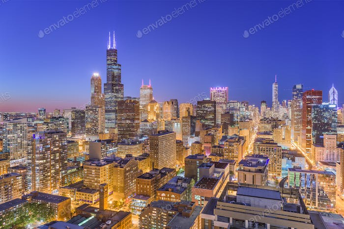 Chicago, Illinois, USA Skyline
