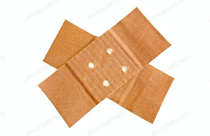 Adhesive Bandage with Clipping Path Isolated on a White Background