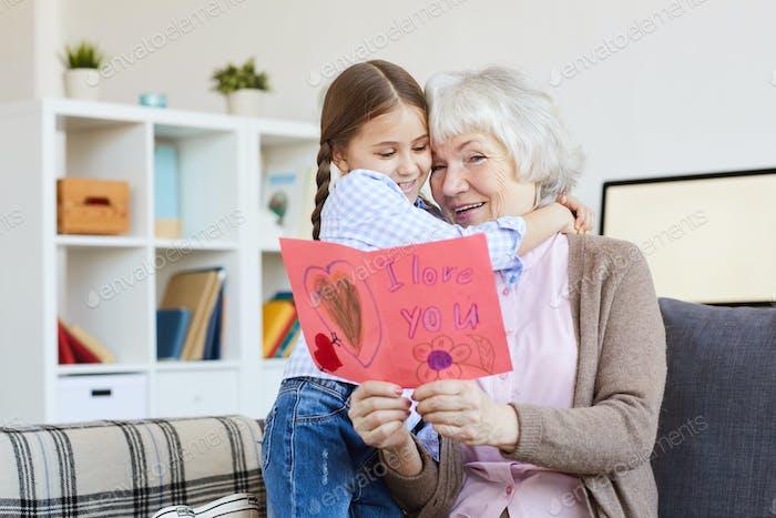 I Love You Card for Grandma