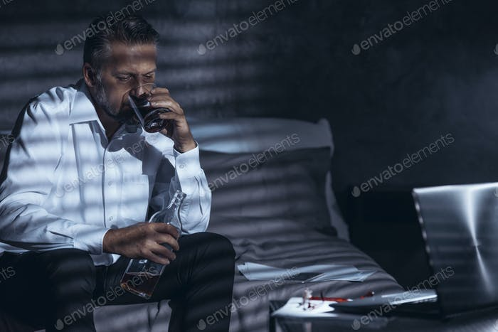 Lonely workaholic with alcohol problem