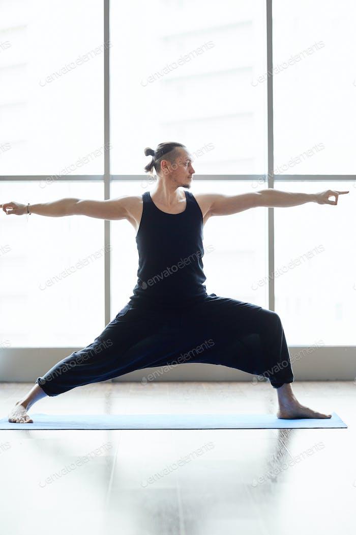 Yogis doing balance exercise