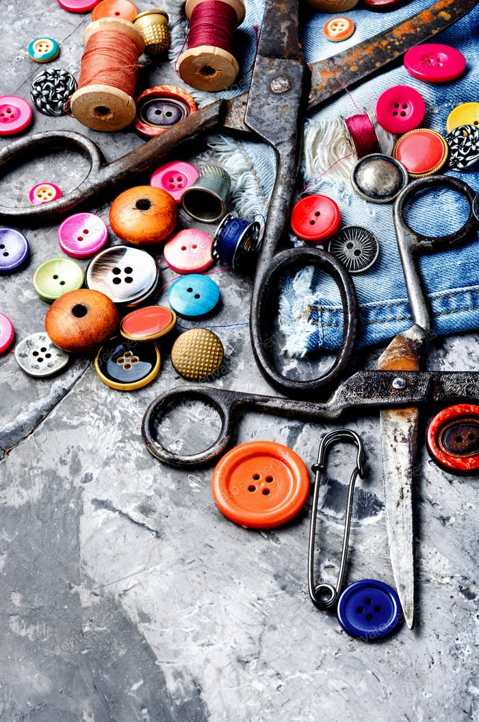 Sewing accessories and fabric