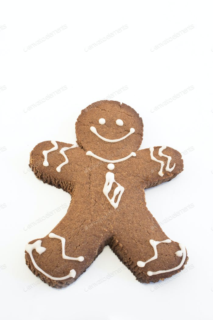 Gingerbread Cookie  Man Isolated on White
