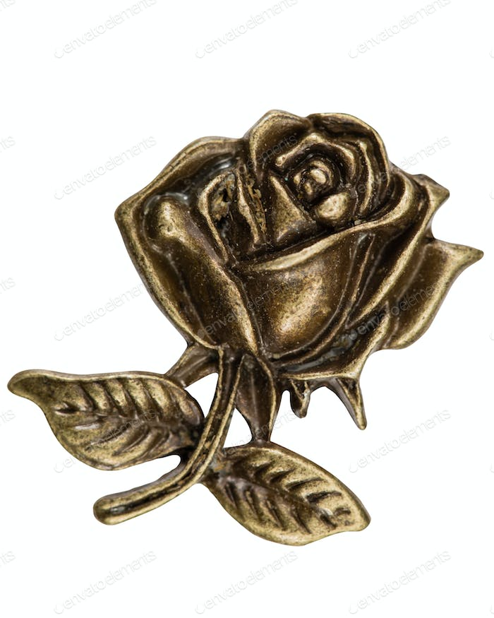 Filigree iin the form of a rose flower, decorative element for m