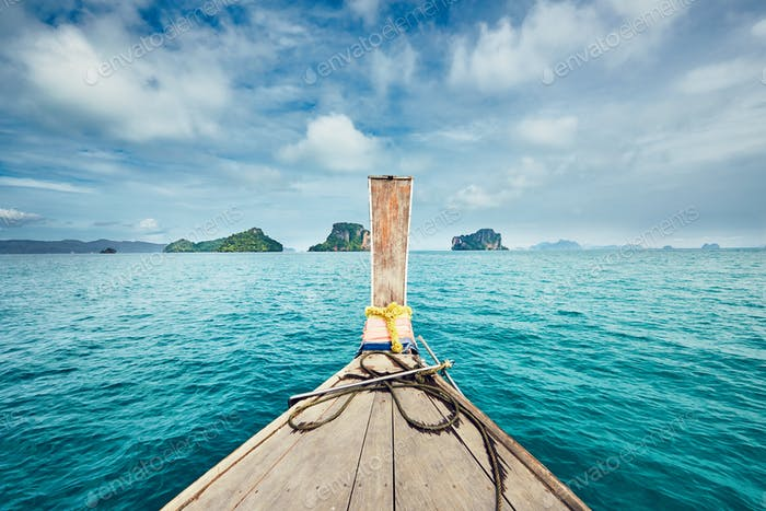 Trip by traditional long tail boat