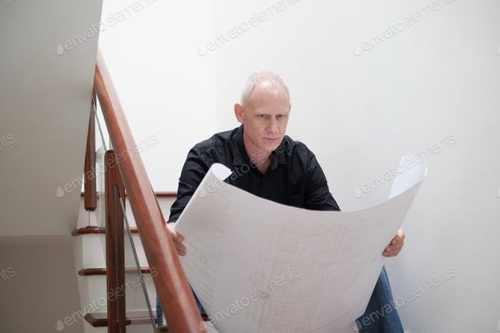 Architect Examining Draft