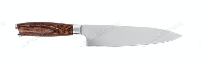 Kitchen knife on white background