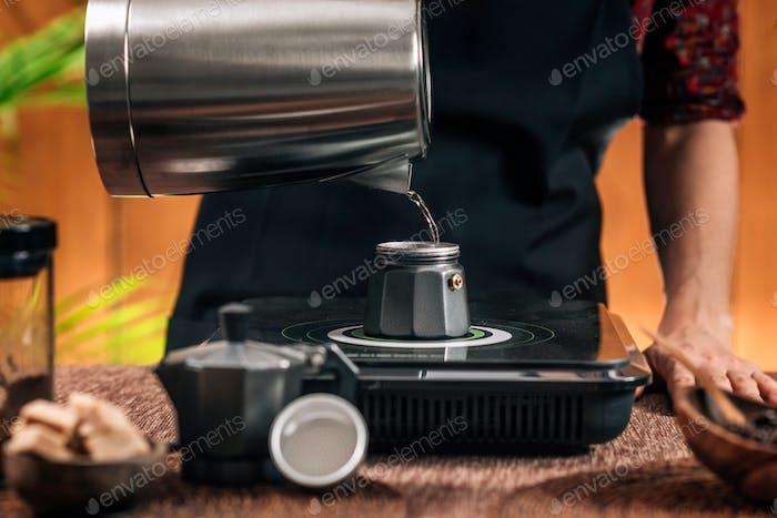 Coffee Making With Moka Pot