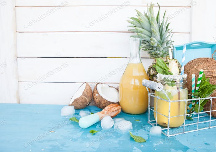 Pineapple and coconut cocktail