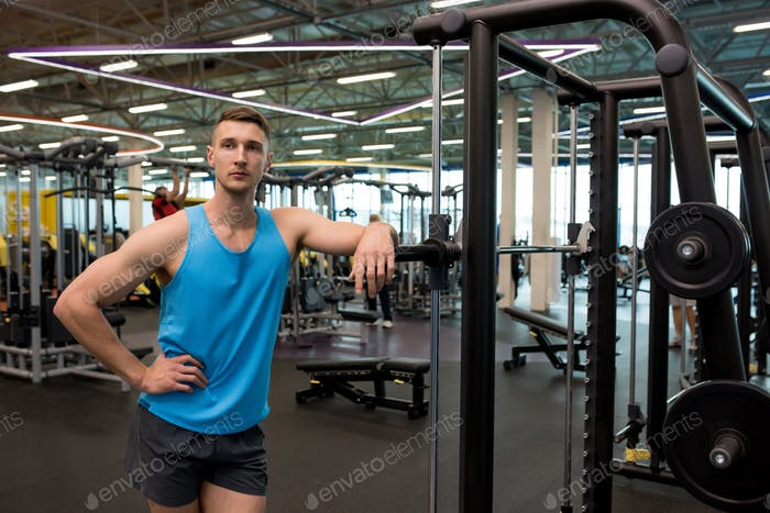 Muscular Fitness Coach in Gym