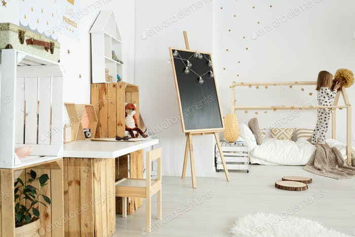 Scandinavian modern interior for girl