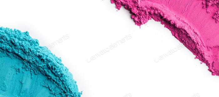 Blank space for promo on white background between holi