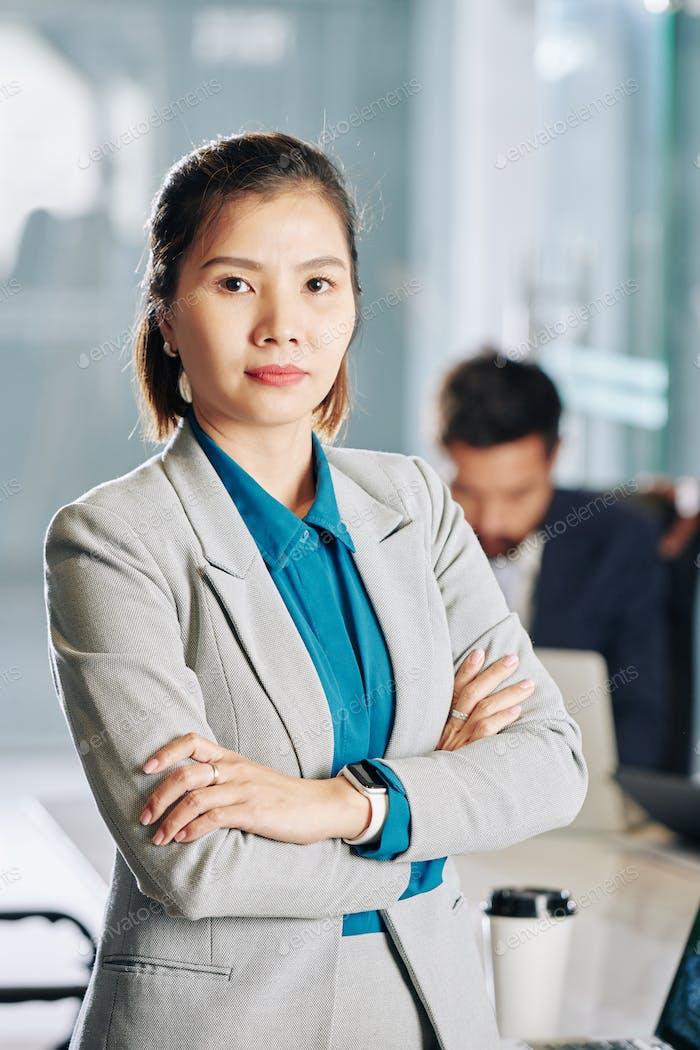 Young confident female entrepreneur