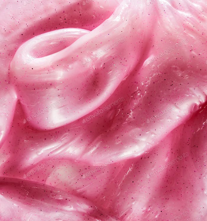 Textured background of pink slime