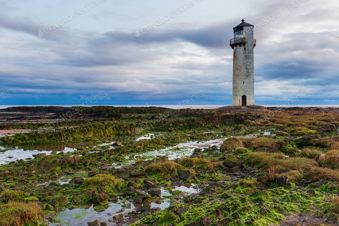 Cloudy skies over Southerness Lighthouse