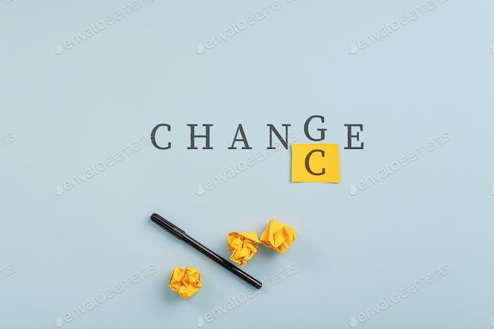 Konzeptionelles Bild von Herausforderung und Denkweise