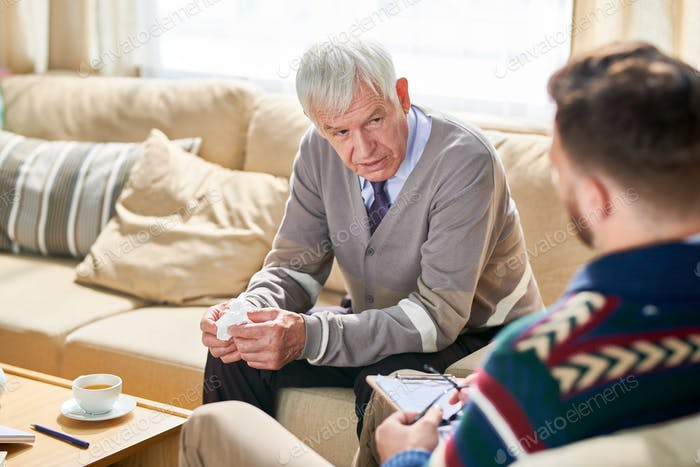 Old Man in Therapy Session