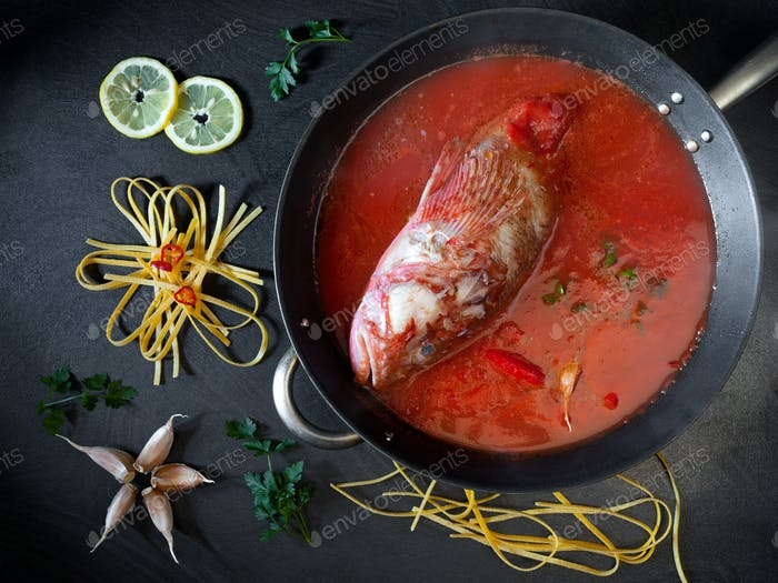 Sorpionfish Tomato Sauce