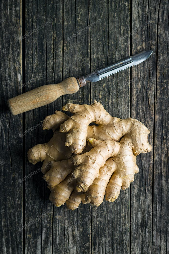 Healthy ginger root.