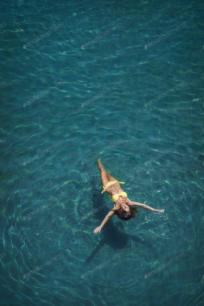 Swiming girl