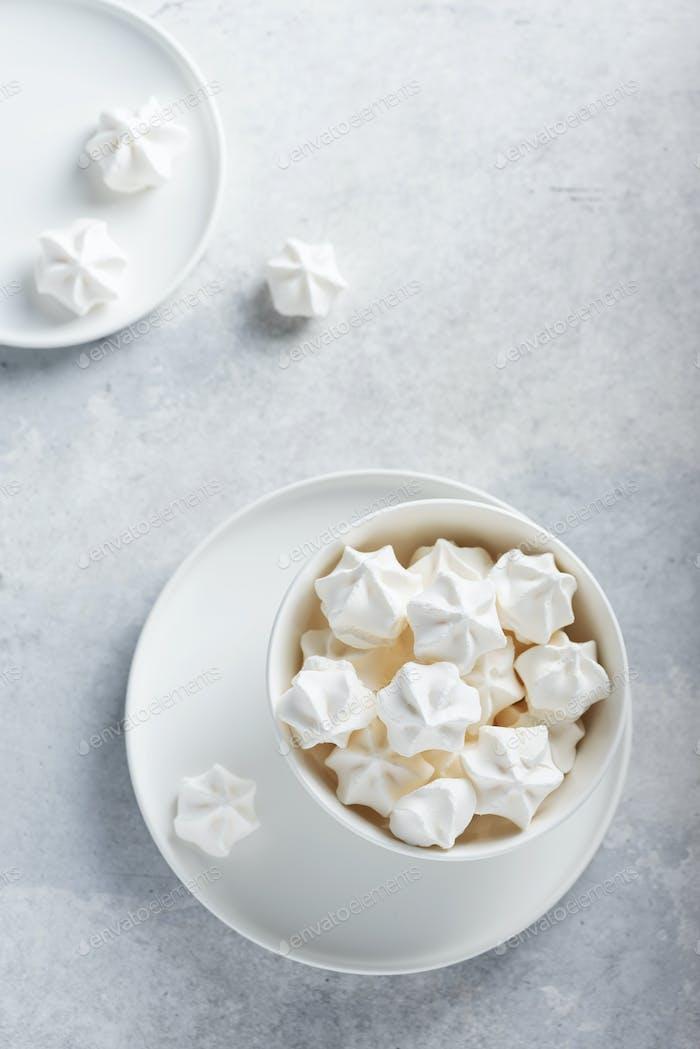 Sweet white meringue