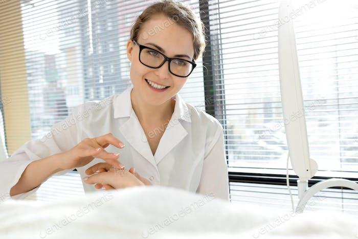 Nice Female Cosmetologist