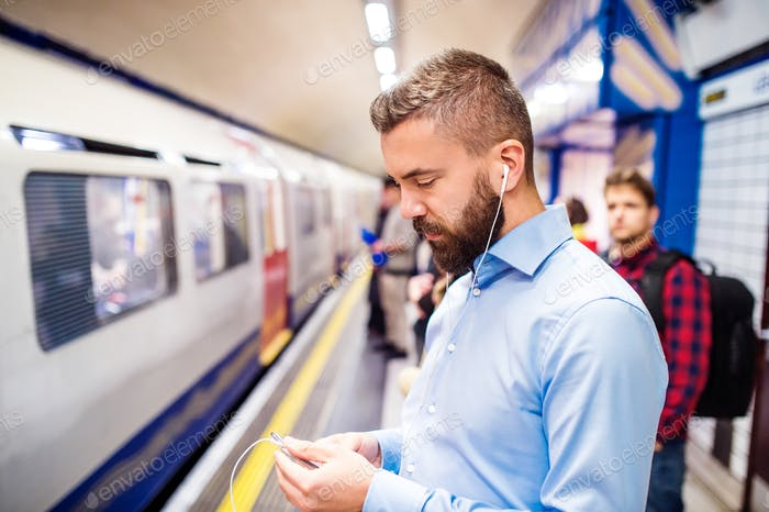 Young men in subway
