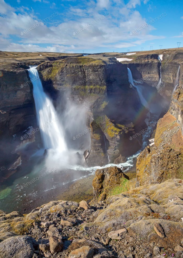 Haifoss and Grannifoss in Iceland