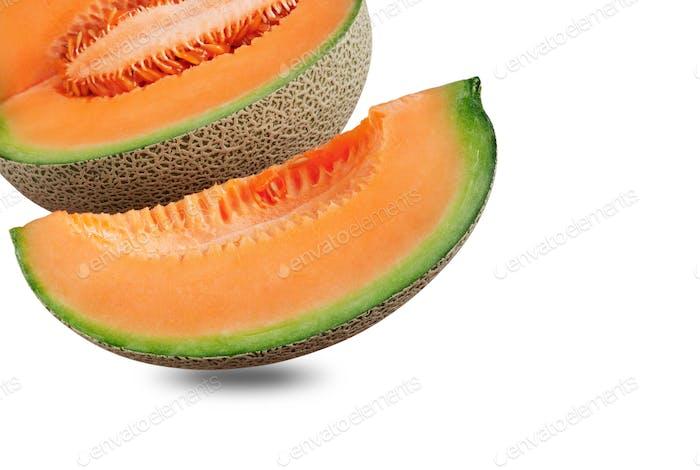 Melon on white background