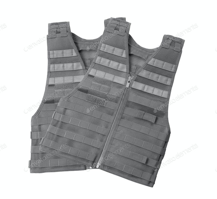 Bulletproof vest isolated