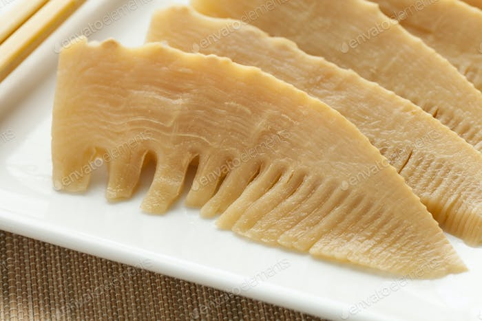 Simmered young bamboo shoots