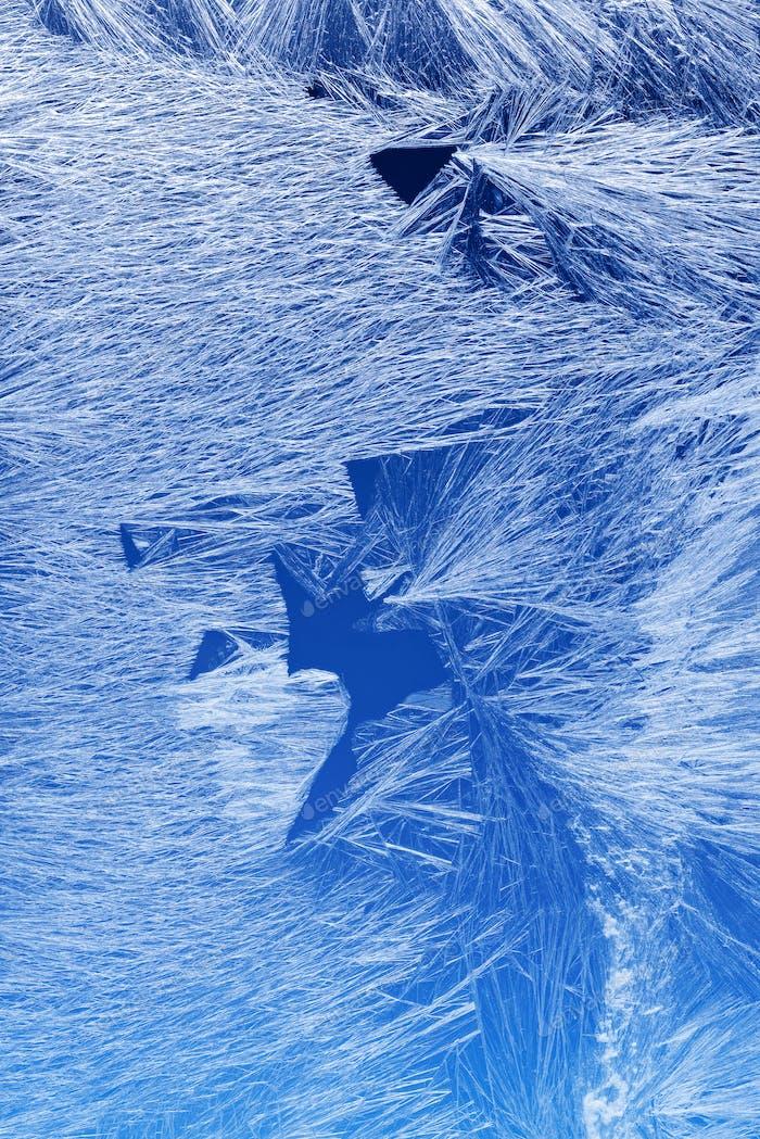 Frost pattern on a window glass