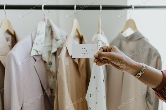 Fashion designer's business card