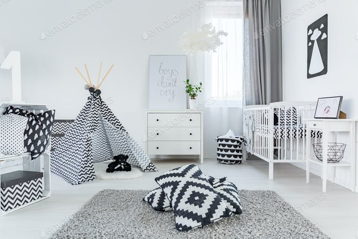 Child room in scandinavian style