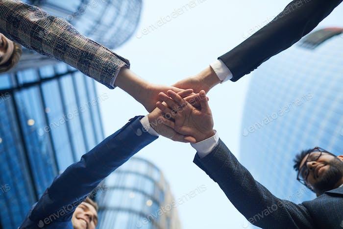 Unidad del equipo empresarial