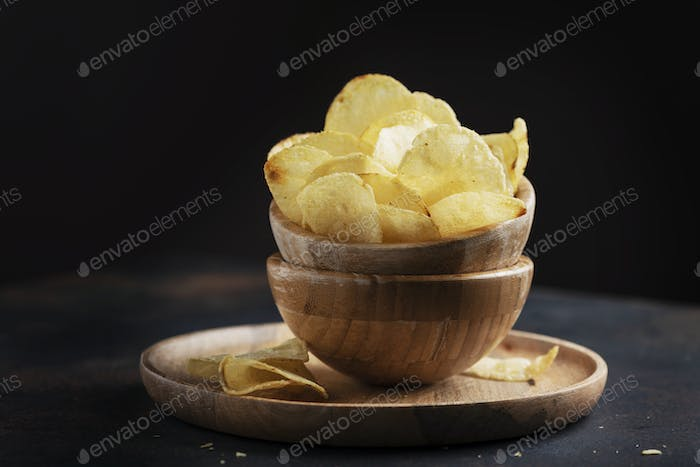 Unhealthy potato chips