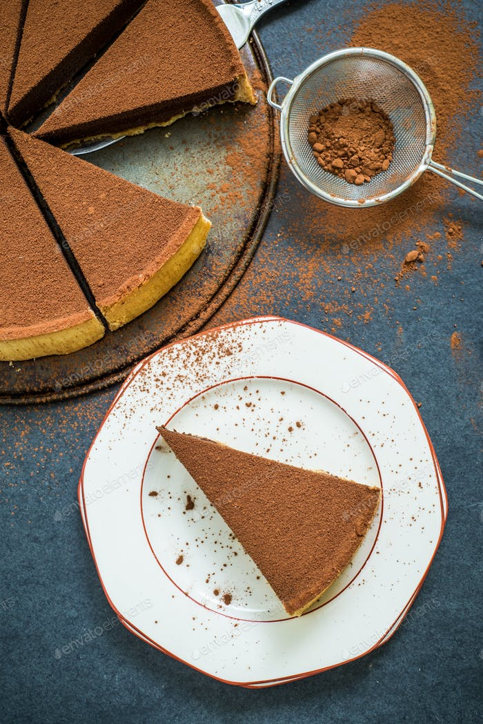 chocolate and cocoa cake or tort