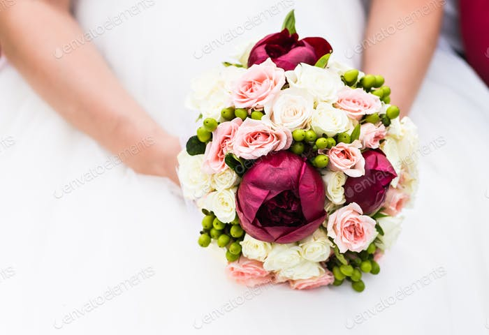 Wedding bouquet of flowers