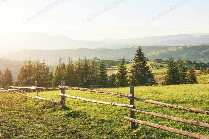 Carpathian mountains. The photo was taken high in the Carpathian Mountains. Beautiful sky and bright
