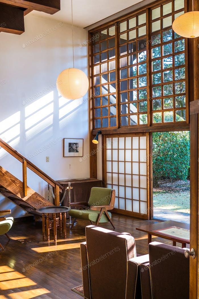 Inneneinrichtung des Hauses im Freilichtmuseum Edo-Tokyo, Japan