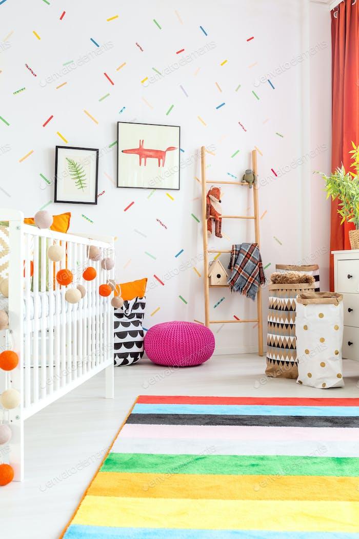 Newborn bedroom with cot