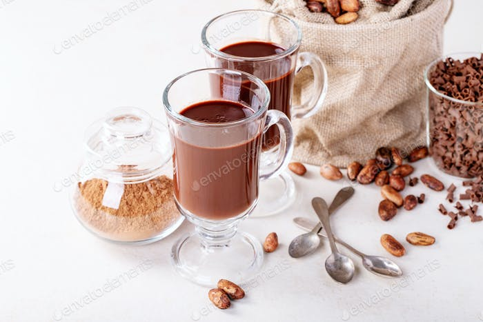 Homemade hot chocolate drink