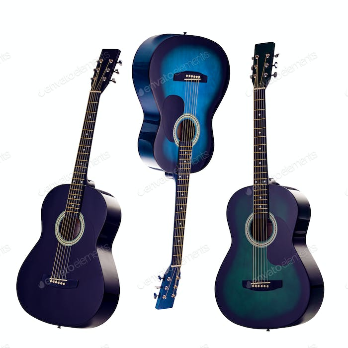 Set of classic guitars